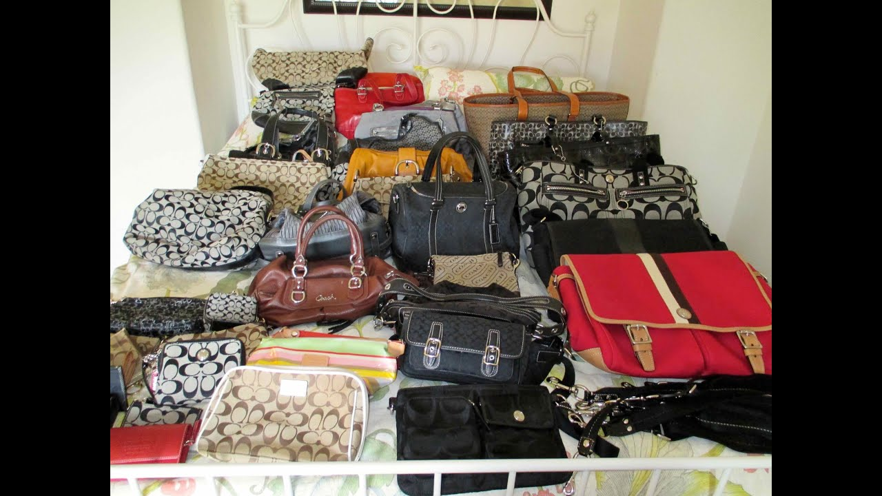 Coach Bags Collection - YouTube