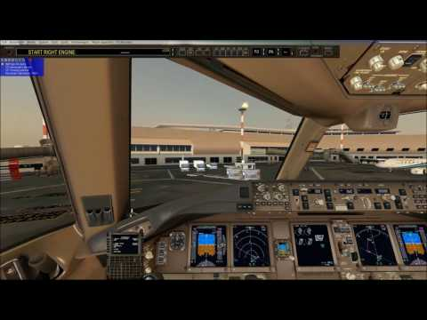 fsx world tour 19th step  from  Kuwait city  to Dubai int. night landing pmdg 777