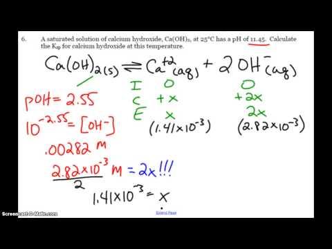 AP Ksp and pH Calculations