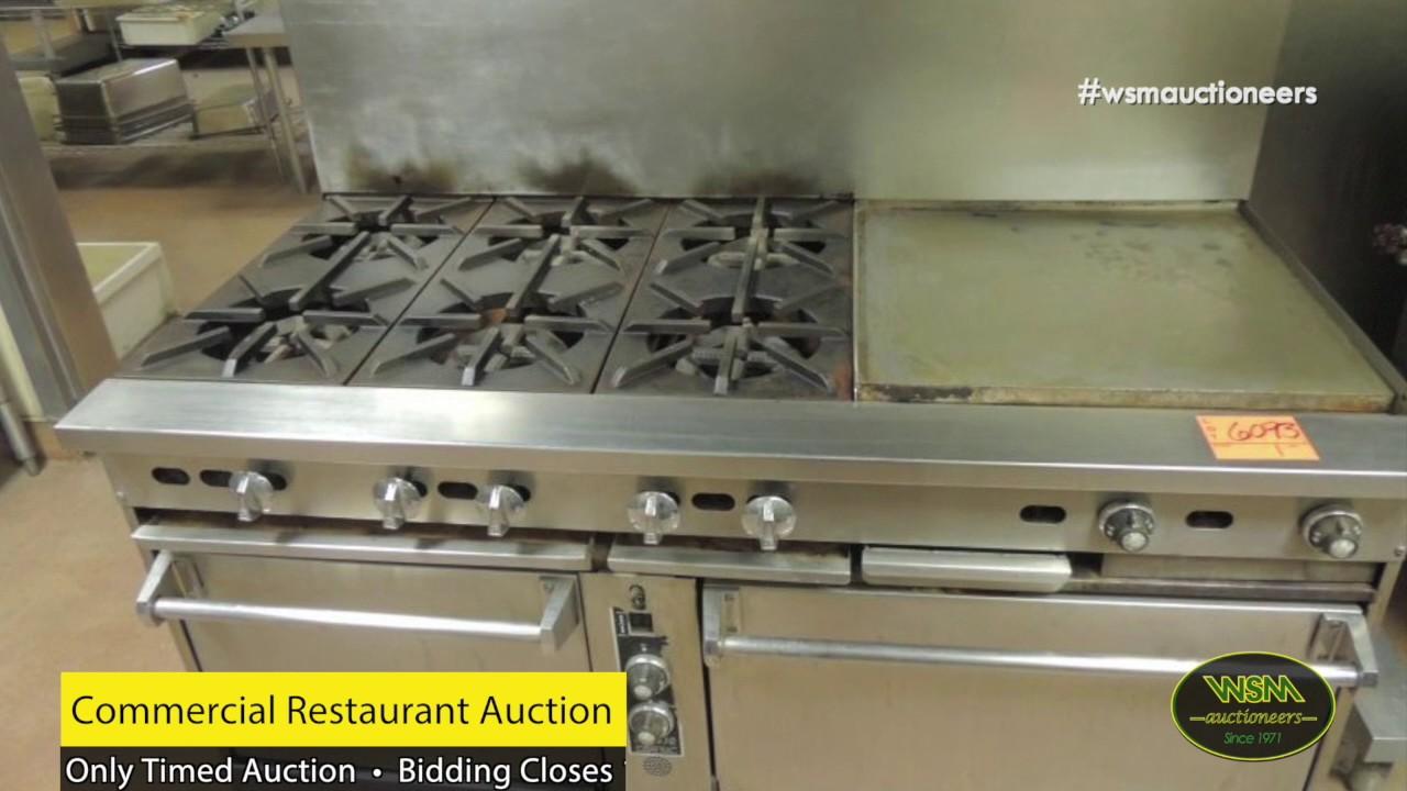 Restaurant Kitchen Auctions wsm auctioneers' commercial restaurant public auction • bidding