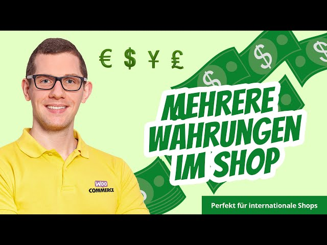 WooCommerce Multi Currency | Währungsumschalter 💵  Mehrere Währungen im Shop 💶