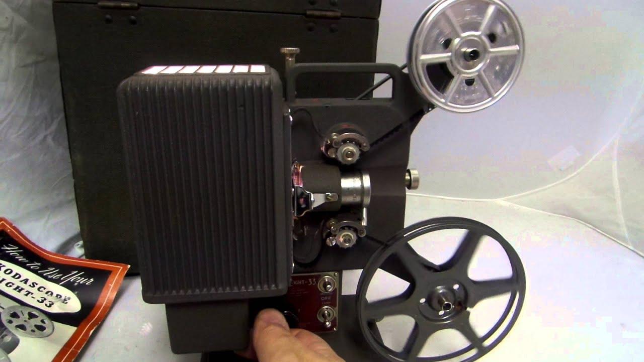 Kodak Kodascope Eight - 33 8mm film projector VINTAGE for sale on Ebay!