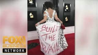 Joy Villa wears Trump 'Build The Wall' dress to Grammys