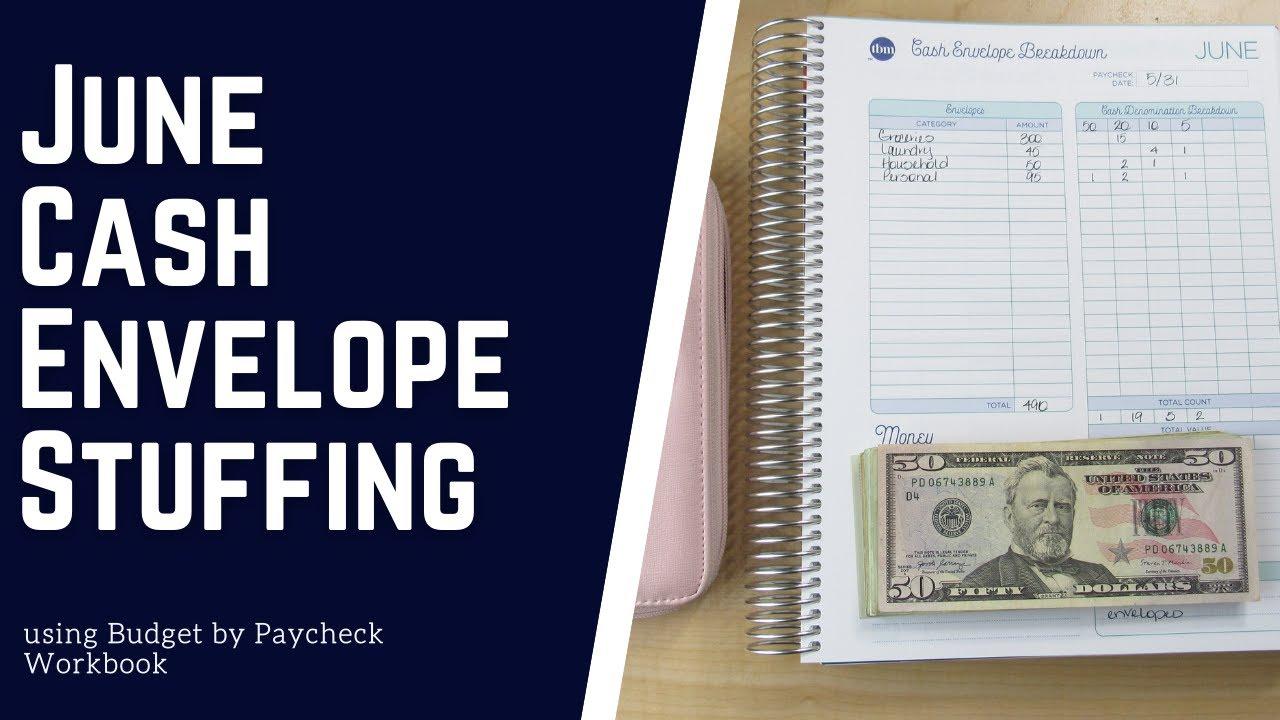 Budget with Me| June 2021- Cash Envelope Stuffing| Debt: $24,390