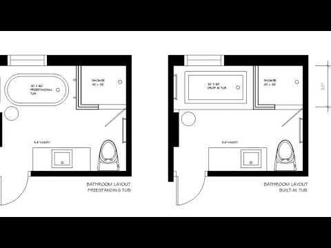 Small Bathroom Layout with Tub and Shower Ideas