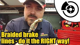 How to make Stainless steel braided brake lines the RIGHT way #1336