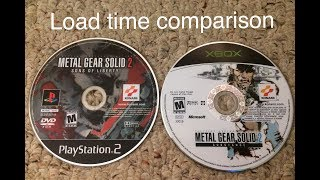 Metal Gear Solid 2 Load time comparison (PS2 vs OG Xbox) Non HD