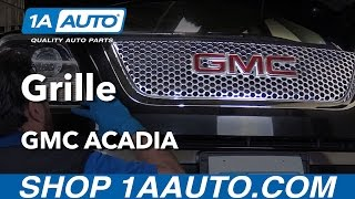 How to Install Replace Grille 2012 GMC Acadia Buy Quality Auto Parts at 1AAuto.com