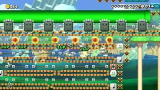 テクニカル130秒スピードラン+スターラン!speed Run! by スピランりょうたくん - SUPER MARIO MAKER - NO COMMENTARY