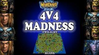 Grubby | Warcraft 3 TFT | 1.29 | 4v4 on Twilight Ruins - 4v4 Madness