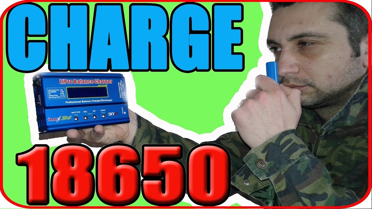 How To Charge Li Ion Battery Pack Using Imax B6 18650 Lipo Charger B6ac Digital Balancer