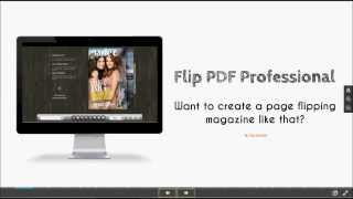 Understand Flip PDF Professional in 3 Minutes