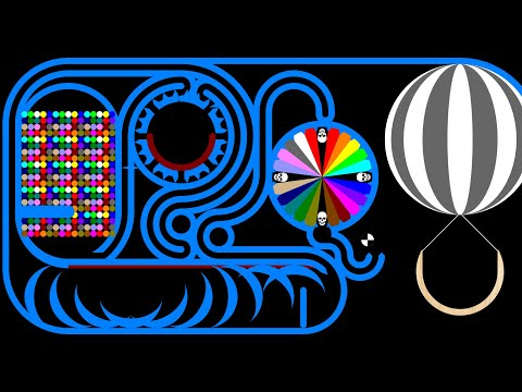 Balloon Transport - Combination Marble Race 2 in Algodoo