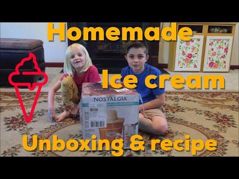 Nostalgia Homemade Ice Cream Unboxing Review. Pioneer woman vanilla bean