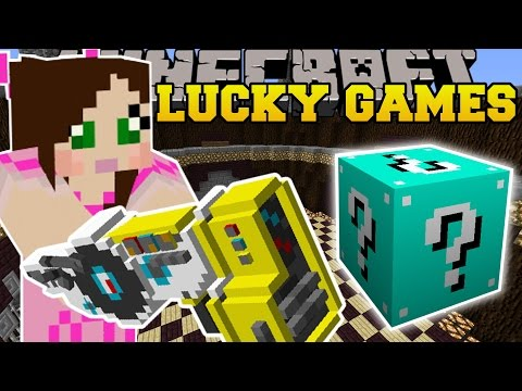 Minecraft: DUBSTEP GUNS EXPLOSIVE CHALLENGE GAMES - Lucky Block Mod - Modded Mini-Game