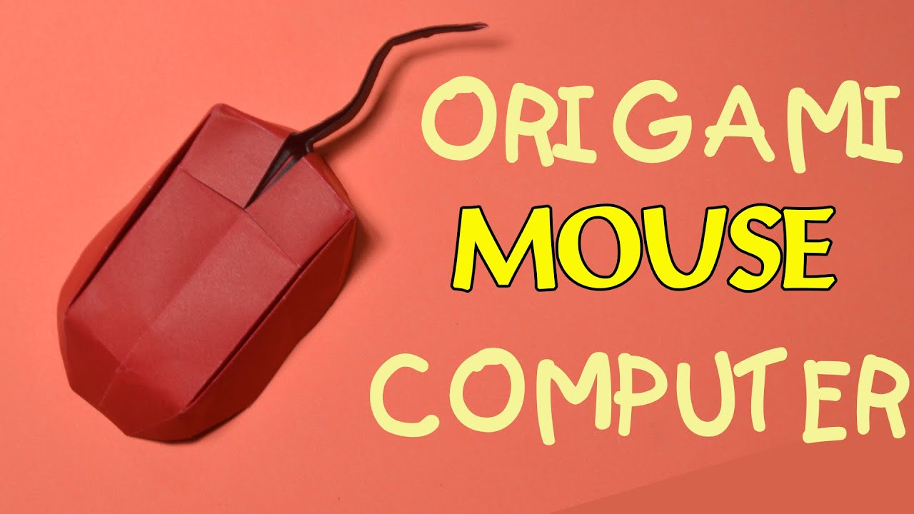 Papercraft Origami easy - how to make origami mouse computer