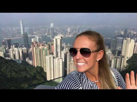 Hong Kong. Victoria Peak. DRONE Footage