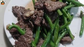 美食:青豆角炒牛肉