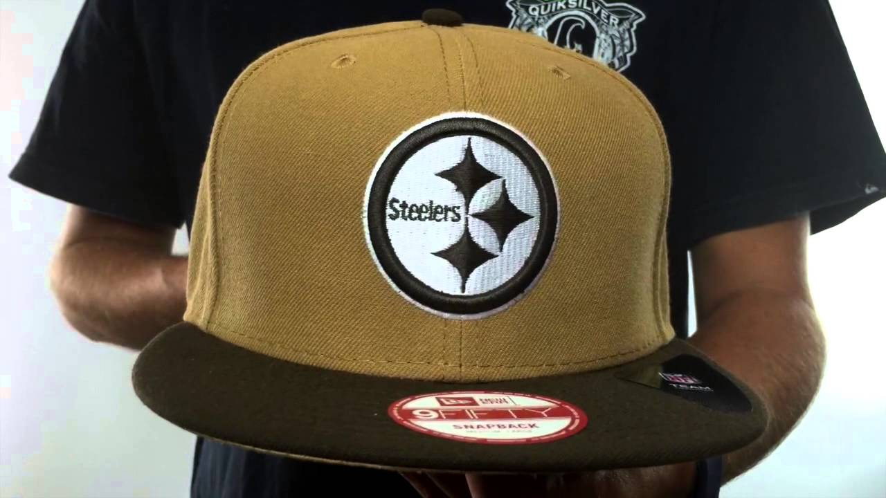 4bf24be685fbc Steelers  TEAM-BASIC SNAPBACK  Wheat-Brown Hat by New Era - YouTube