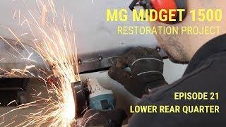 MG Midget 1500 Restoration - Lower Rear Quarter Repair