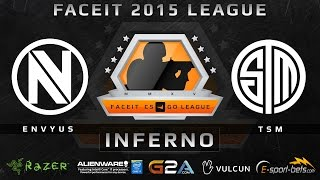 EnVyUs vs TSM - Inferno (FACEIT 2015 League)(Play on FACEIT for free: http://www.faceit.com FACEIT on Twitter: http://www.twitter.com/faceit FACEIT on Facebook: https://www.facebook.com/FaceitCommunity ..., 2015-04-17T08:55:26.000Z)