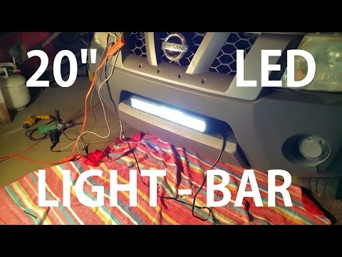 20'' light bar installation on a Nissan Xterra how to complete video