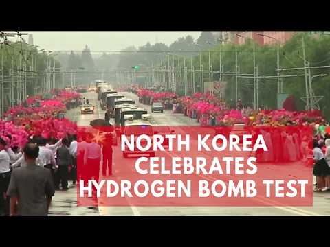 North Korean residents celebrate scientists after reported hydrogen bomb test