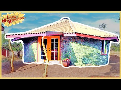 The Family Builds Earthbag Building with Underground Studio | $7000 Cost | Full Version Movie