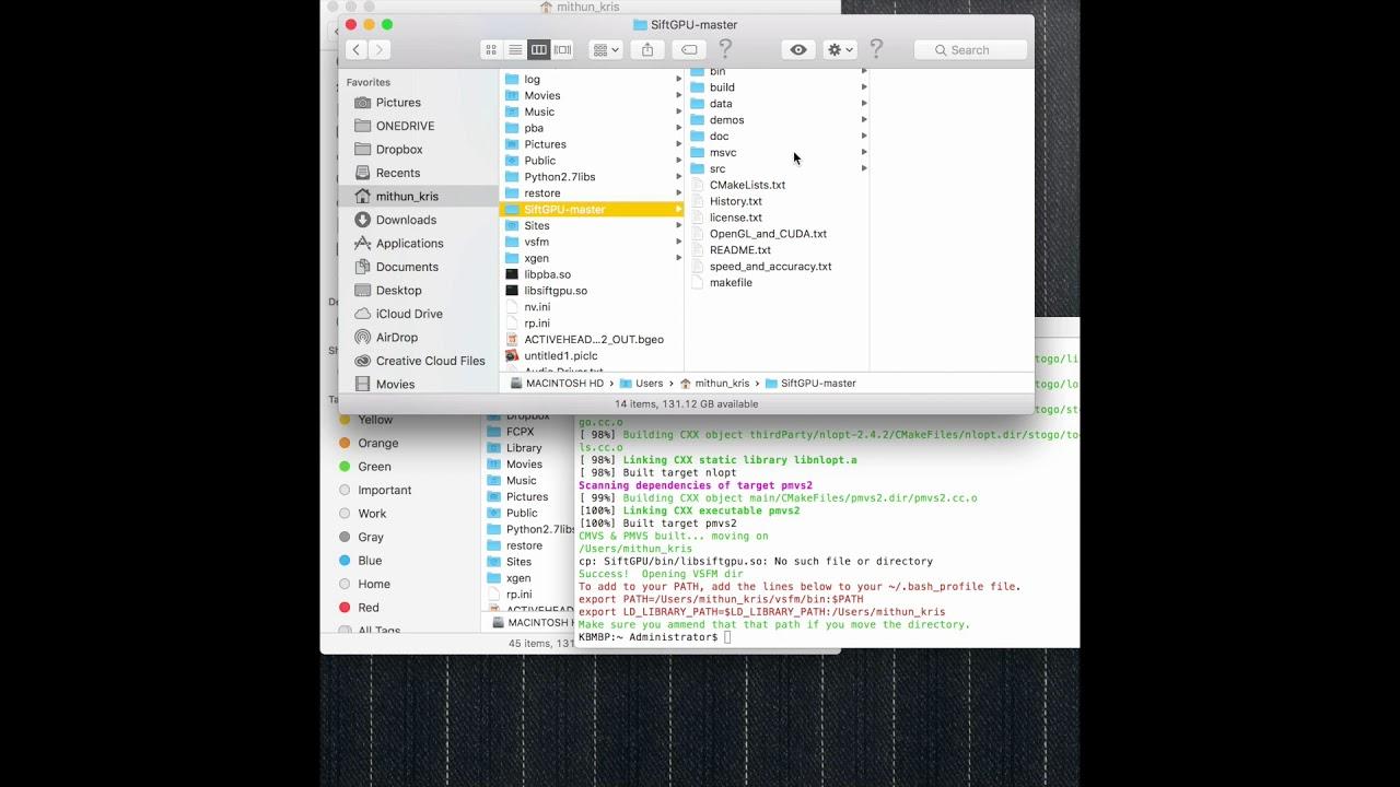 VisualSFM Mac Install - High Sierra Update - LINK UPDATED