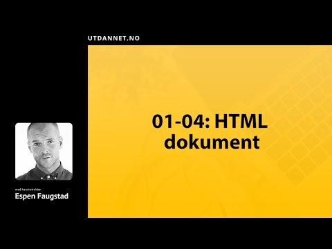 04 Av 09: HTML Dokument | HTML Kurs | Utdannet.no