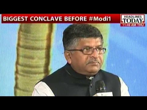 Telecom Minister Ravi Shankar Prasad At Manthan AajTak
