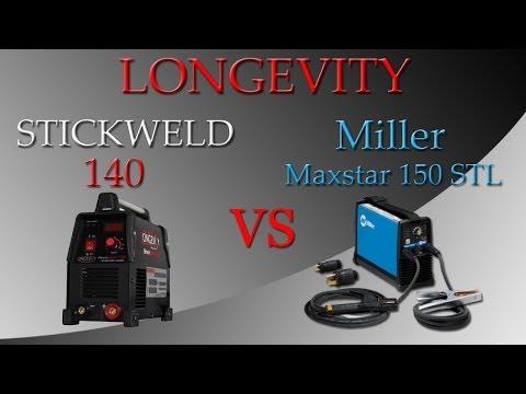 Miller Maxstar 150 Stl Vs Longevity Stickweld 140 Comparison Review Video Youtube