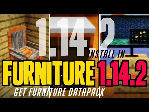 How To Get Furniture In Minecraft 1.14.2 - Download Furniture Datapack (1.14.2 Compatible Pack)