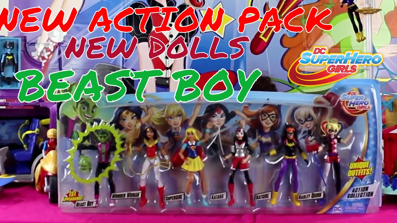 Superhero Toys For Boys : Dc superhero girls action figure pack with quot beast boy