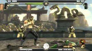 MK9 casuals, GGA Dizzy (Cage) vs GGA HAN (Reptile)