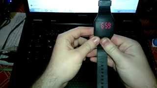 электронные часы с силиконовым ремешком с алиэкспресс (настройка часов)