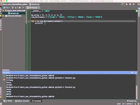 Python 3: Programming Tools Tutorial Video: Iterators and Generators
