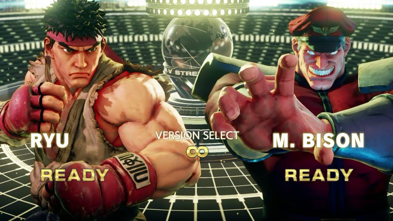 Street Fighter V Arcade Edition Ryu Vs M Bison Sfv Ryuvsbison