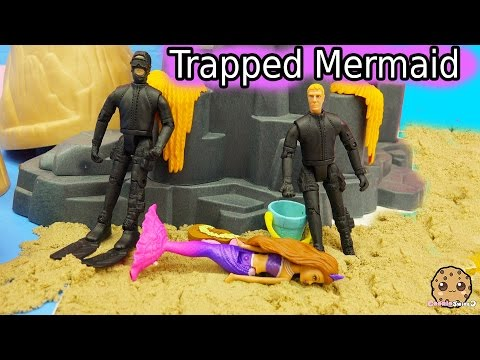 Out Of Water - Trapped Mermaid Part 6 - Barbie Mini Doll Video Series  CookieSwirlc