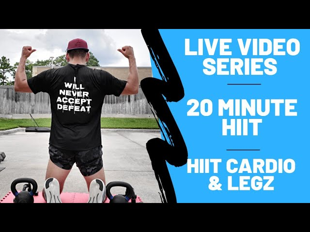 20 minute fat burning cardio & legs workout (no equipment)