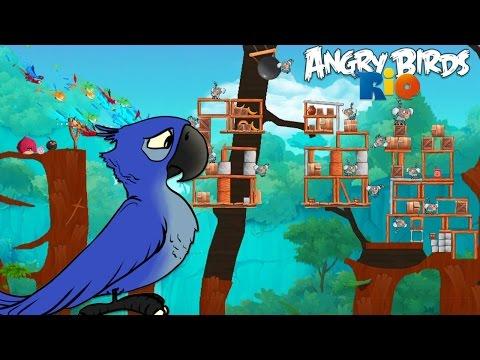 Angry Birds Rio - Rovio Entertainment Ltd 2 TIMBER TUMBLE Level 12-16