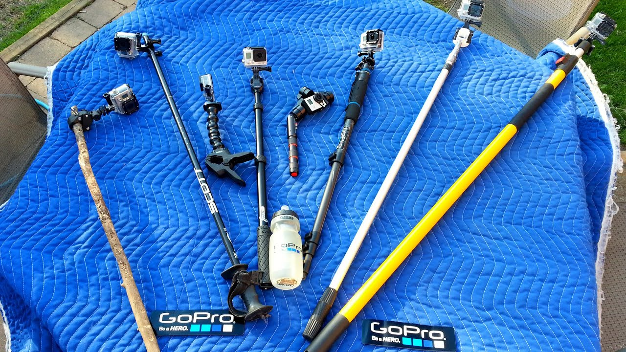 top gopro pole selfie stick monopod collection evolution tips youtube. Black Bedroom Furniture Sets. Home Design Ideas