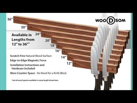 Different Ways to Make Your Kitchen Beautiful By Magnetic Knife Strip