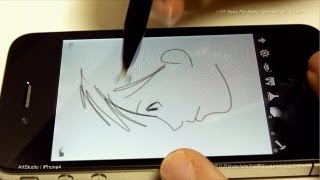 iPhone & iPad - DIY Stylus Pen Painting Test Movie