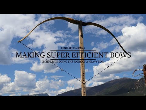 Making Super Efficient FAST Longbows - Traditional Archery Making a Bow