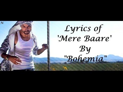 BOHEMIA - Lyrics of 'Mere Baare' by