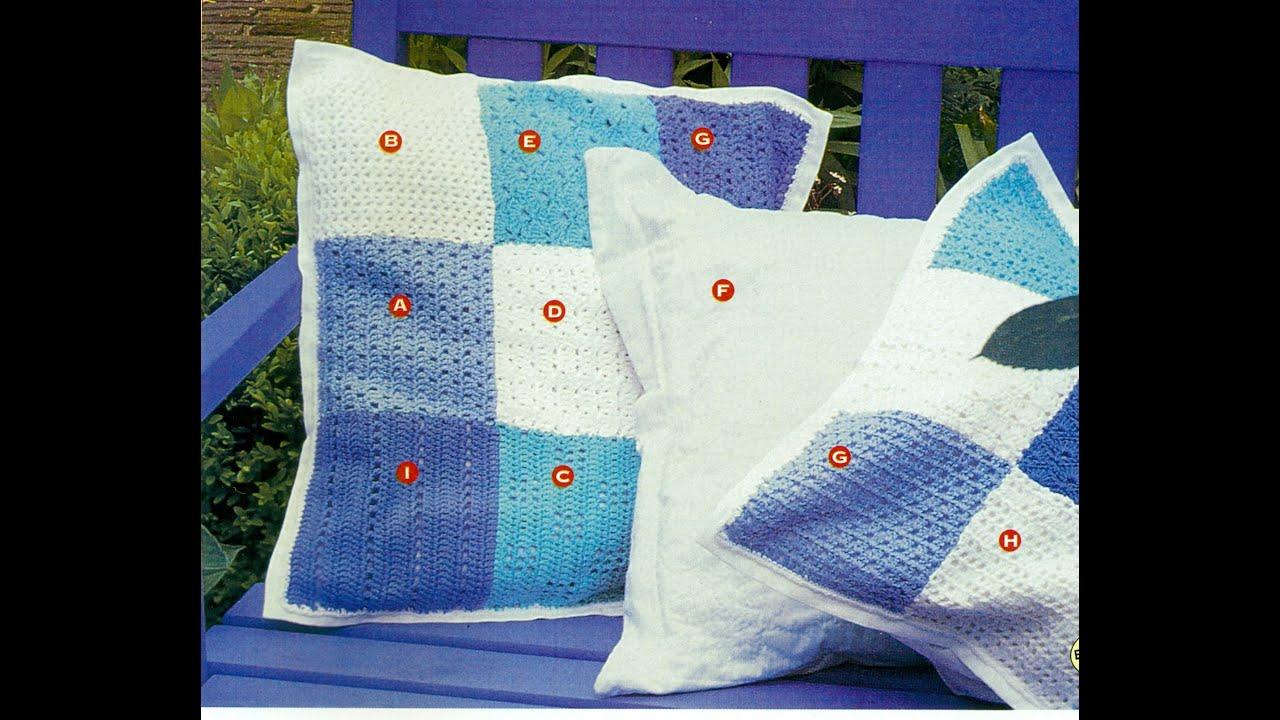 Patrones Para Cojines tejidos a Crochet Varias Muestras - YouTube