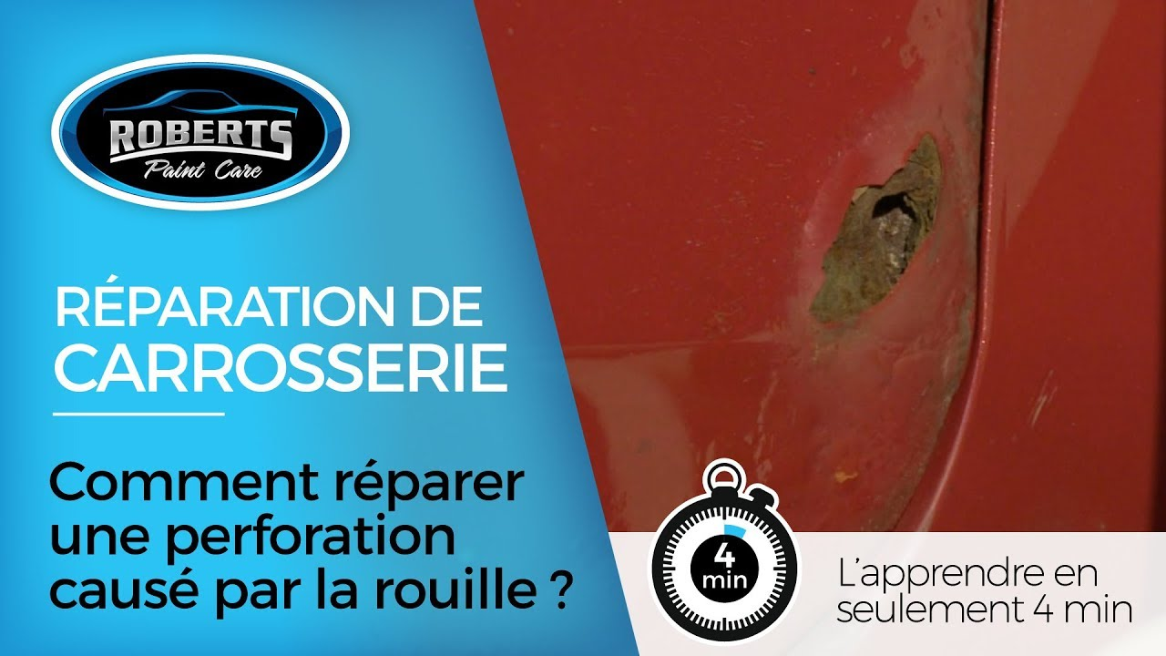 Comment réparer une perforation causé par la rouille ?