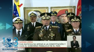 Alto mando militar de Venezuela ratifica apoyo a Maduro