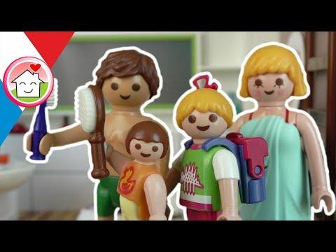Playmobil en français Routine du matin - La famille Hauser